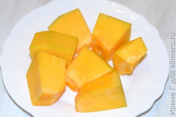 Тыква с яблоком и сахаром в духовке рецепт 3