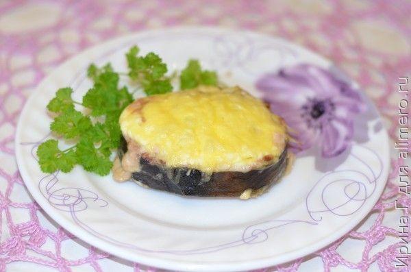 горбуша запеченная с грибами и сыром