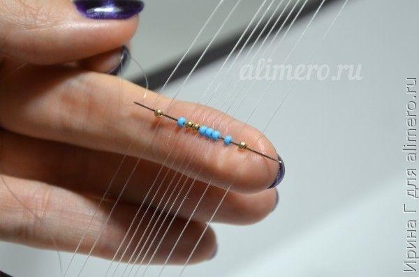 Браслет из бисера в технике ткачество