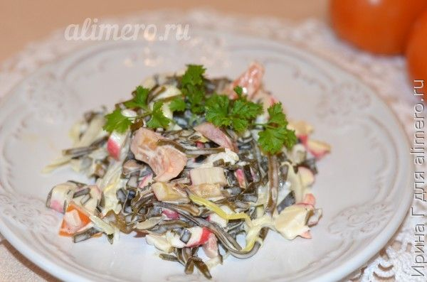 Салат из морской капусты с морковкой рецепты
