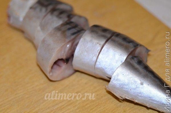 скумбрия в луковой шелухе
