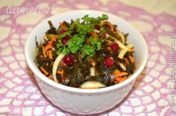 салат из морской капусты с корейской морковью