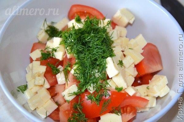 салат из помидоров и брынзы