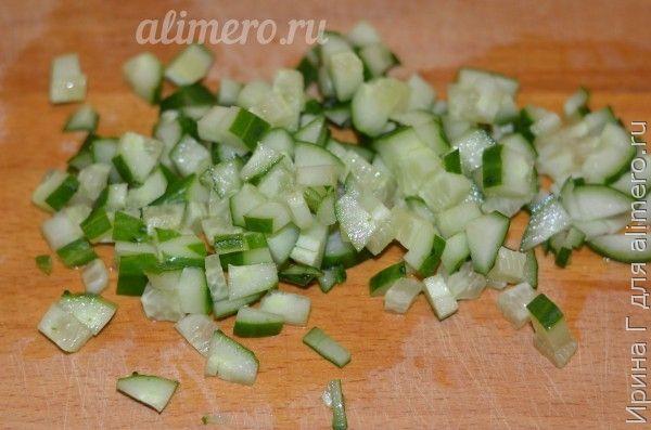 салат из кукурузы с огурцом