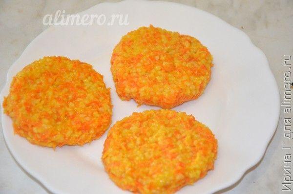биточки из каши с морковью