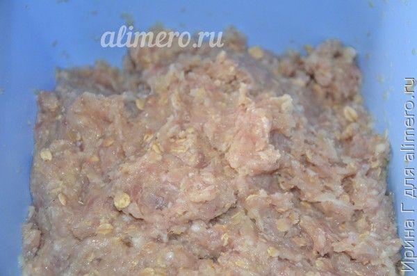 котлеты из мяса с капустой и геркулесом