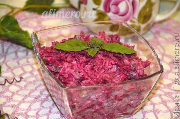 Салат из свеклы с соленым огурцом рецепт с