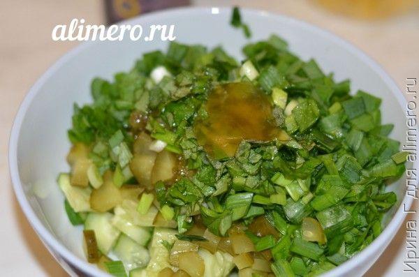 салат из огурцов и зеленого лука