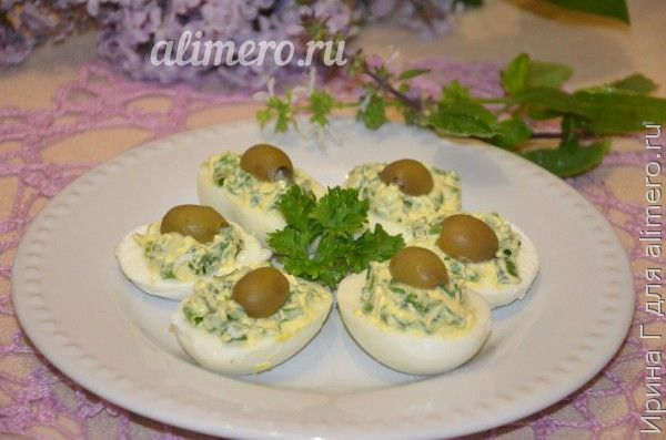 закуска из яиц и зеленого лука