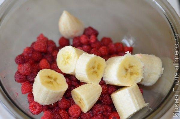 смузи из малины и банана