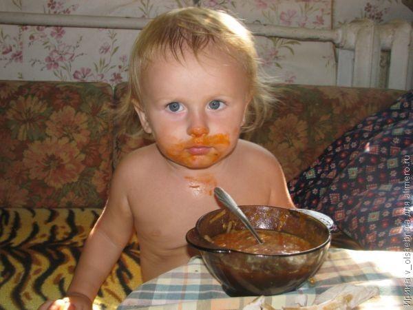 Как накормить неедяку борщом