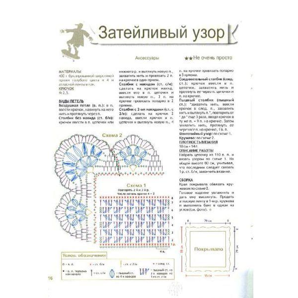 Вязание пледа для новорожденного схема и описание