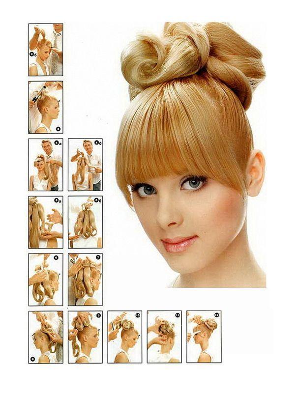 Строгие прически на средние волосы  фото пошагово