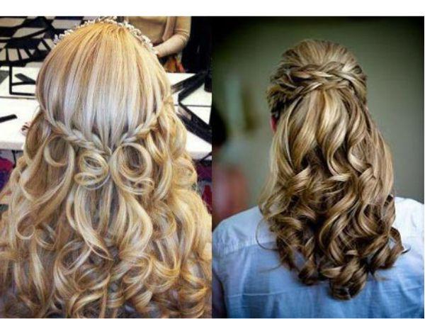 Причёски с локонами на средние волосы