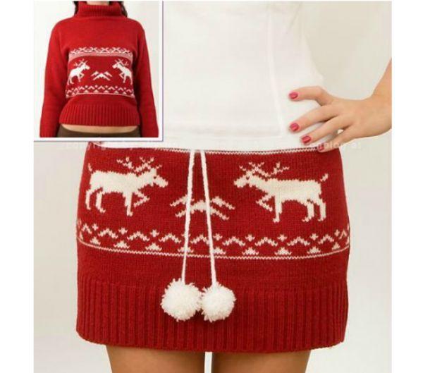 Из старого, ненужного свитера может получиться вот такая симпатичная молодежная юбка. Сделать ее совсем не сложно. У вас все получится!