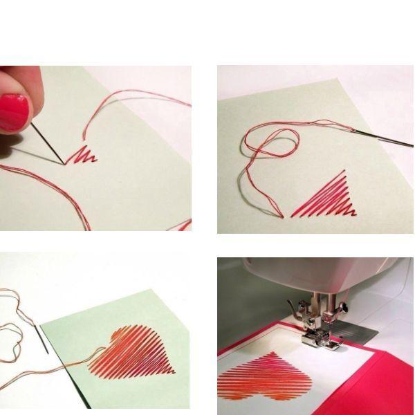 Как видите, сделать такую открытку не составит труда. Иголку берите не слишком толстую, чтобы дырочки в картоне не были слишком большими.