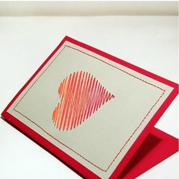 Такую открытку можно подарить любимому человеку на годовщину свадьбы или День Валентина. Сделать ее довольно просто!