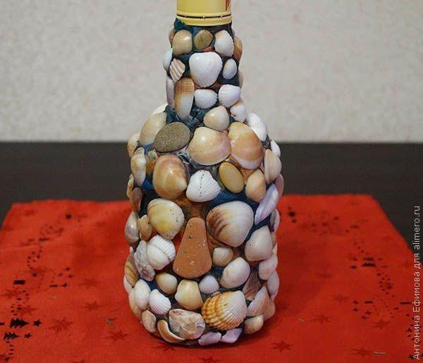 Бутылка с ракушками
