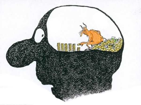 Подсчитано, что человеку в среднем приходит 70 тысяч мыслей ежедневно.