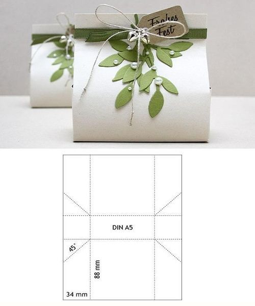 Подарочная упаковка из бумаги. Мастер-класс №12