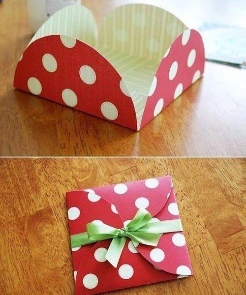 Подарочная упаковка из бумаги. Мастер-класс №17