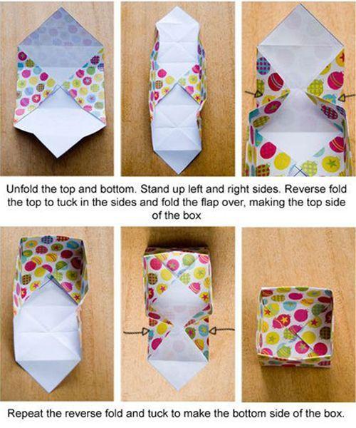 Подарочная упаковка из бумаги. Мастер-класс №1