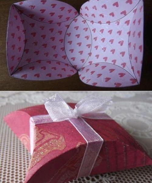 Подарочная упаковка из бумаги. Мастер-класс №14