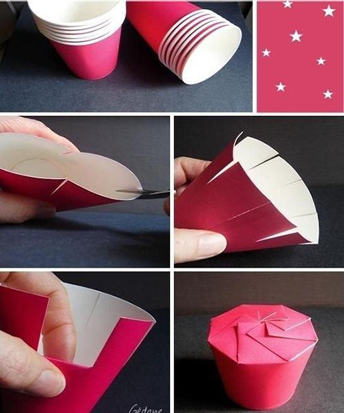 Подарочная упаковка из бумаги. Мастер-класс №3
