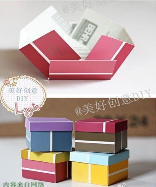 Подарочная упаковка из бумаги. Мастер-класс №11