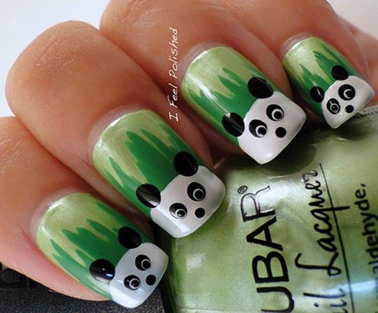 Идеи маникюра с пандами