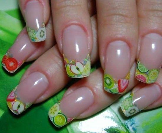 Идеи фруктово-ягодного маникюра