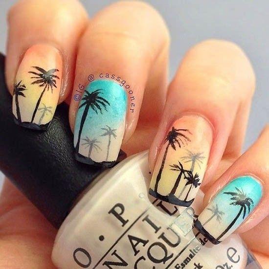Идеи маникюра с пальмами