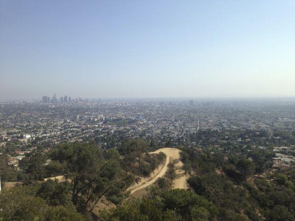 Вид на Лос-Анжелес из Обсерватории