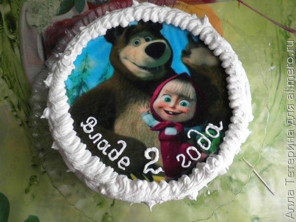 гель для вафельных картинок на торт была замечена