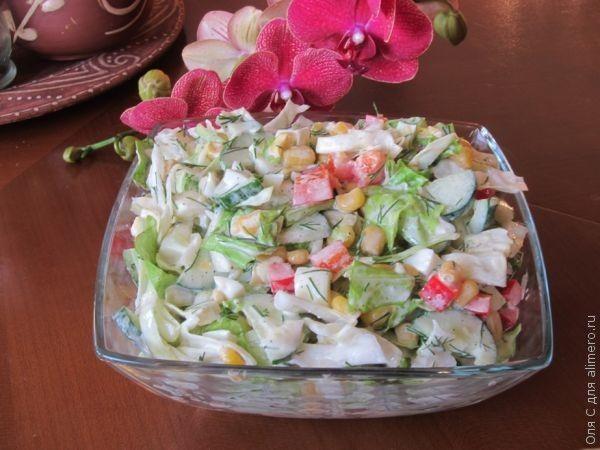 Салат-гарнир из капусты