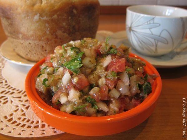 Икра-салат из баклажан