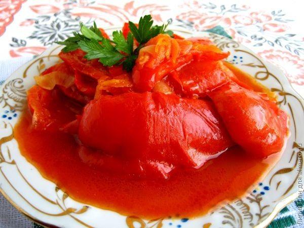 Лечо с морковью и чесноком