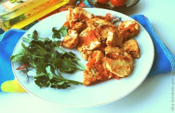 Курица с томатами