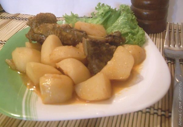 Тушеный картофель с уткой