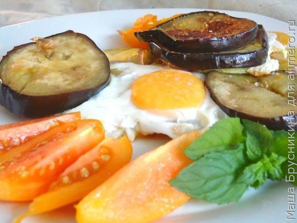 Овощи с яйцом