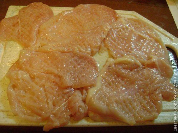 Отбивные из курицы пошаговый рецепт с