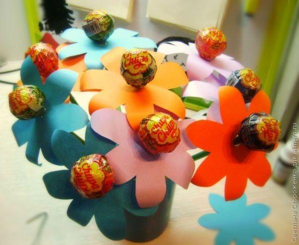 Мой мастер-класс – букет из конфет Чупа-Чупс
