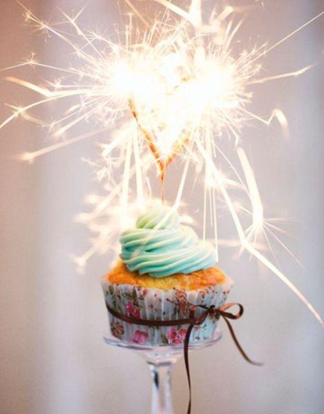 Бенгальские огни – это необычное украшение можно смело поместить на капкейк. Символ празднования Нового года никого не оставит равнодушным.
