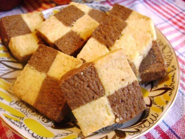 Французское шахматное печенье