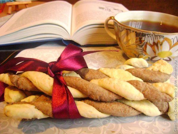 Шоколадно-ванильное печенье «Спиральки»