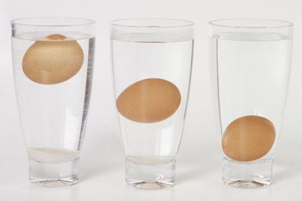 Узнать свежесть яиц, находящихся в вашем холодильнике, очень просто. Достаточно всего лишь опустить их в стакан с водой: тонущее яйцо является свежим, а вот всплывшее – старым.