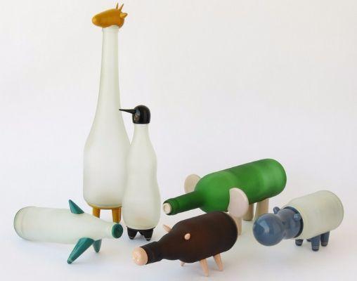Вторая жизнь стеклянных бутылок