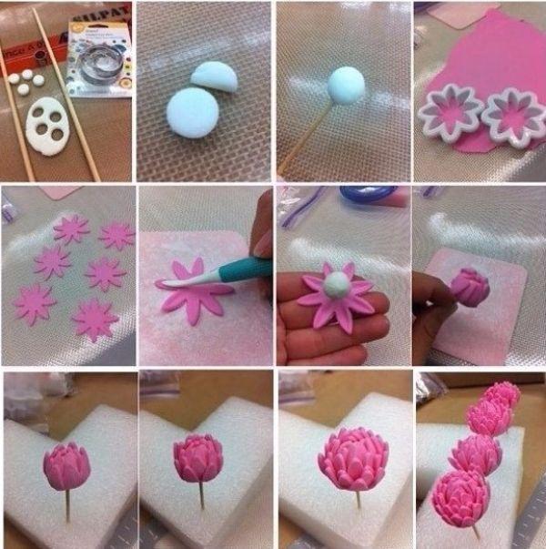 Как сделать цветы полимерной глины