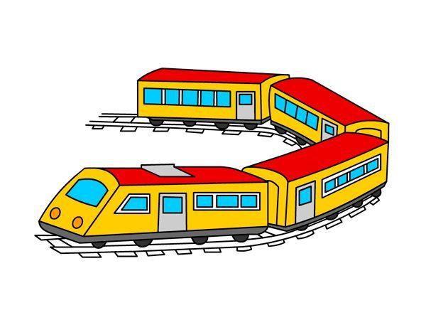4. Железная дорога. Нарисовать фломастером поезд. Затем посадить в каждый вагон какое-нибудь животное: в один, например, слона, в другой утку и т.п. Родители и ребенок рисуют поочередно или вместе (от 5 лет).