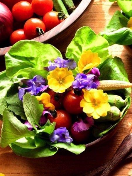 Примула. Можно употреблять в пищу как листья, так и цветы. Лепестки не имеют ярко выраженного вкуса. Первоцвет подходит для приготовления салатов, супов и десертов. Также используется для приготовления ликеров и коктейлей.